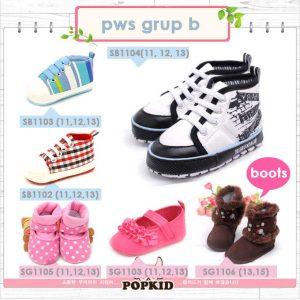 prewalker shoes sepatu bayi baru lahir grup b