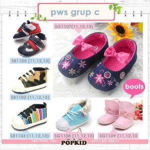 prewalker shoes sepatu bayi baru lahir grup c
