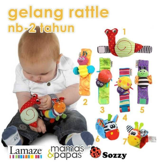 Grosir Gelang Bayi Rattle - Hatibunda Babyshop
