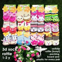 grosir kaos kaki bayi 3d socks rattle
